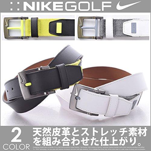 Nike da Uomo G-Flex Contrast Golf Belt, Uomo, White/Wolf Grey