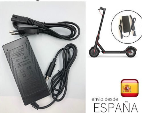 Battery charger compatible kickboard scooter Xiaomi Mijia M365 Adapter 42 V 2A para Xiaomi Mijia M365 battery charger. ANDROGEEK warranties in Europe and shipped from Spain