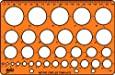Helix Circle Stencil Template H67010