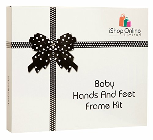 Desertcart ishop buy ishop products online in uae dubai abu deluxe baby hand and footprint kit photo frame for girls boys and newborn perfect personalised gifts for baby shower gifts christening for girls boys negle Gallery