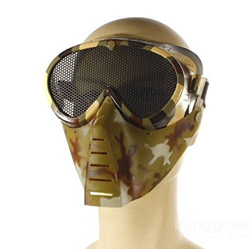 Preisvergleich Produktbild mark8shop Softair Spiele Full Face Maske Nase Augen Protector Sicherheit Mesh Guard