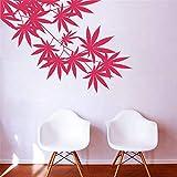haotong11 81 cm x 57 cm kinderzimmer wandkunst Aufkleber wandbild Wohnzimmer Dekoration blätter Ahornblatt Vinyl Pflanze wandaufkleber
