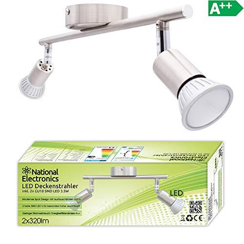 Lámpara de techo LED National Electronics Spot GU10 inclusive 3.5W 320lm LED...