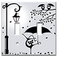 Cat with an Umbrella - Oversize Switch Plate/Over Size Wall Plate