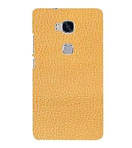 PrintVisa Tan Leather Design 3D Hard Polycarbonate Designer Back Case Cover for Huawei Honor 5X