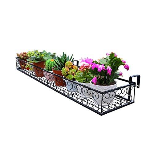 Lei ze jun uk- ringhiera appesa portafiori per balconi ringhiera appesa fiori in ferro battuto recinzione balconata appesa fioriera per balconi stand di fiori carnosi a ripiani per piante ( dimensioni : xla )
