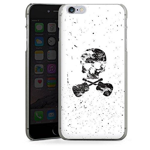 Apple iPhone X Silikon Hülle Case Schutzhülle Ein toter Dichter Totenkopf Skull Hard Case anthrazit-klar