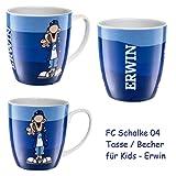 FC Schalke 04 Porzellan Tasse / Becher / Mug für Kinder S04 Maskottchen - Erwin