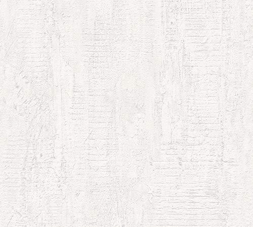 A.S. Création Vliestapete Beton Concrete & More Tapete in Vintage Beton Optik 10,05 m x 0,53 m creme grau Made in Germany 944264 94426-4