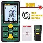 Misuratore Laser 50m,USB Carica Rapida, TECCPO telemetro laser, Decorazione d'interni, Sensore Angolo Elettronico, 99… 51NSeDFhG L. SS150