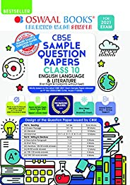 Oswaal CBSE Sample Question Paper Class 10 English Language & Literature Book (Reduced Syllabus for 2021 E