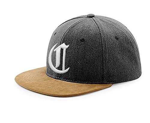 Snapback Cap toit en suède Casquette de Baseball Bonnet Chapeau Snap back 3D Gothique A-Z (K) C