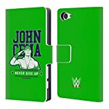 Head Case Designs Offizielle WWE John Cena Never Give Up 2 2018/19 Superstars 4 Brieftasche Handyhülle aus Leder für Sony Xperia Z5 Compact