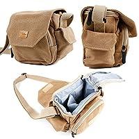 DIMENSIONS : 15 x 13 x 8cm. ATTENTION: Si vous avez des accessoires supplémentaires à transporter, ce sac convient uniquement pour le transport de l'appareil et de son chargeur + batterie et ne pourra pas accueillir d'autres accessoires tels que zoom...