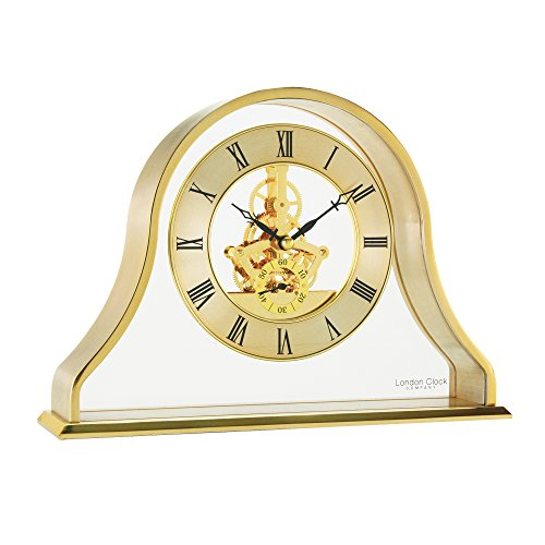 London Clock - 02087 - Gold Napoleon Skeleton Mantel Clock