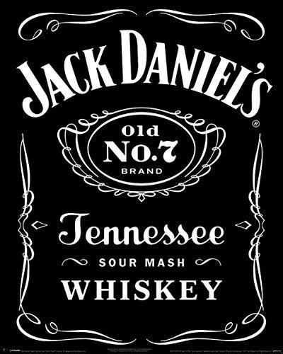 Pyramid International Label Jack Daniel 's Mini-Poster, Kunststoff/Glas, Mehrfarbig, 40x 50x 1,3cm