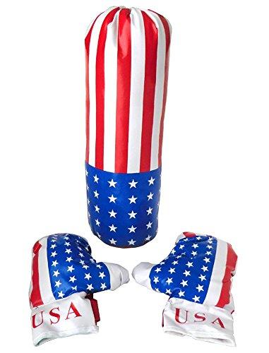 Set boxe america guantoni + sacco per bambini 3+ - idea regalo