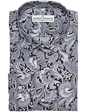 Camicia Da uomo designer 100% cotone regular fit, classica, floreale, S M L XL 2XL 3XL 4XL, colletto da 34...