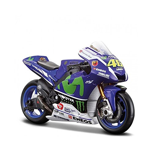 VR46–Miniatura moto Valentino Rossi Moto GP Yamaha Racing 16escala 1/10.