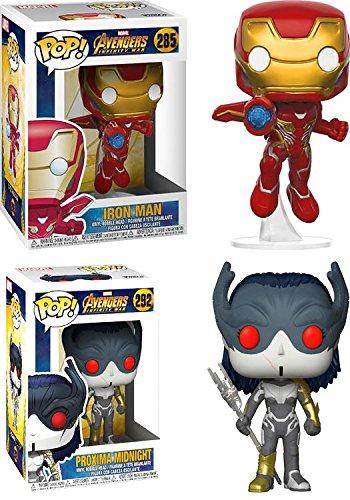 Funko-POP-Avengers-Infinity-War-Iron-Man-Proxima-Midnight--Marvel-Stylized-Vinyl-Bobble-Head-Figure-Bundle-Set-NEW
