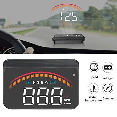 HUD Head up Display, iKiKin Auto HUD con GPS OBD Dual Interfaces Tachimetro digitale universale KMH / MPH Proiettore per auto parabrezza per tutti i veico