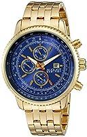 De agosto de Steiner de hombre mercurio analógica Swiss reloj de cuarzo con correa de acero inoxidable