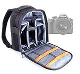 DURAGADGET Mochila Resistente Con Compartimentos Para Cámara Nikon D3200 + Funda Impermeable ¡Perfecta Para Fotografiar Bajo La Lluvia!