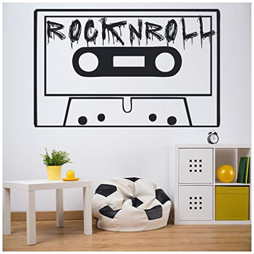 azutura Cinta de cassette vintage Vinilos Rock and roll Pegatina Decorativos Pared Música Retro Decoración del hogar disponible en 5 tamaños y 25 colores Extra pequeño Tuerca marrón