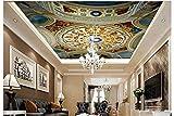Weaeo 3D Wallpaper Benutzerdefinierte Wandbild Schönheit Vlies Europäischen Fresken An Der Decke Decke Einstellung Wanddekoration Decke Tapete-350X250Cm