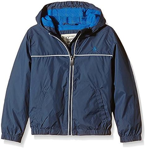 Original Penguin Boy's Pack-A-Mack Plain Jacket, Blue (Dark Denim), 10-11 Years