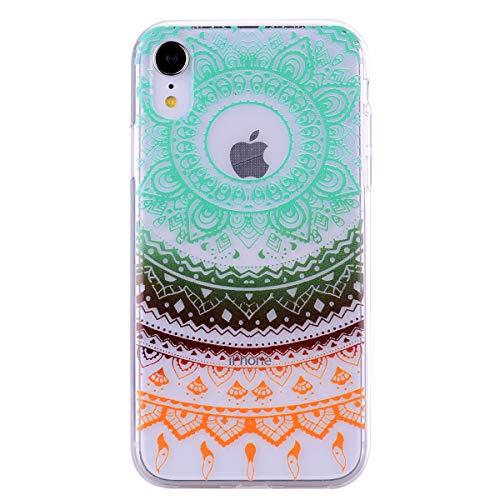 iPhone XR Hülle Clear 2018, stoßfest, transparent, transparent, transparent, weich, flexibel, TPU-Bumper, ultradünn, dünn, Silikon, Gummi-Griff-Hülle für iPhone XR (15,2 cm), Gummi, Totem, iPhone XR -