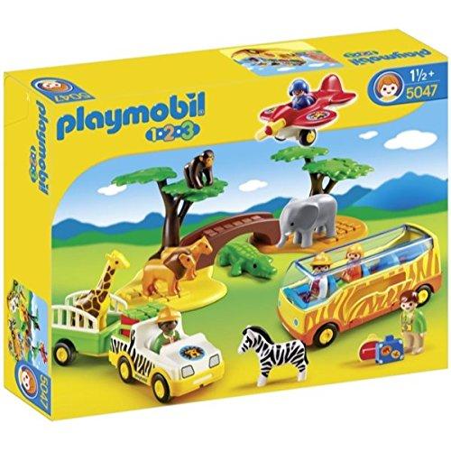 Playmobil 1.2.3Large African Safari Baufigur-BAU (Mehrfarbig, Figuren 1,5Jahr (S), Kinder/Mädchen)