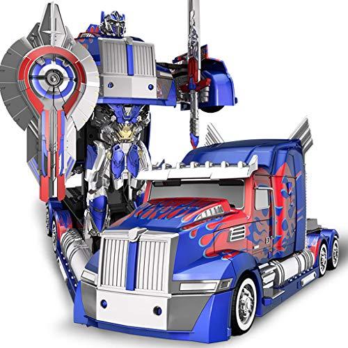 auto, ferngesteuertes auto-modell, verformung roboter spielzeug, hero rettungsroboter modell, junge ferngesteuertes auto spielzeug (Color : Blue) ()