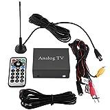 12V Coche Receptor de TV de DVD móvil Analógico Amplio rango de recepción Sintonizador de TV Caja de señal fuerte con antena Control remoto Interruptor de entrada AV