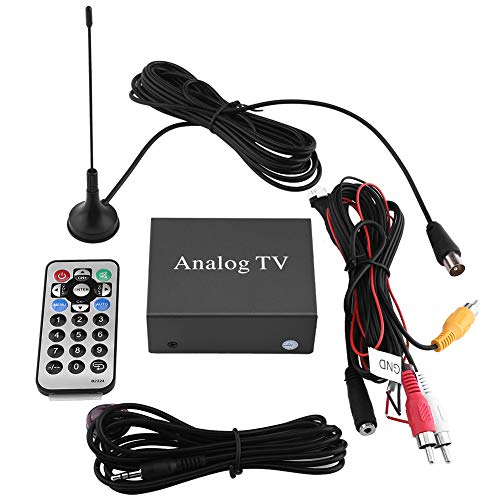 Keenso Auto DVD TV Empfänger Digital TV Receiver Box Analog TV Tuner Starke Signal Box mit Antenne Fernbedienung (Digital-tv-tuner-dvd)