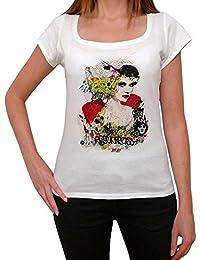 Graphiti Woman Vintage T-shirt Femme,Blanc, t shirt femme,cadeau