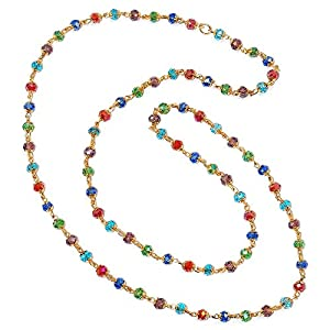 R S Jewels Gold Plated Multi Color Designs Womens Necklace
