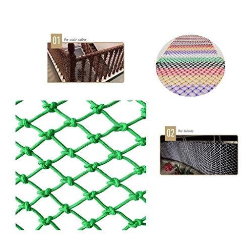 DLYDSSZZ Kinderschutznetz Seil Balkon Treppengeländer Anti-Fall-Netz for Trampolin Spielplatz Park Gartenzaun Fensternetz Vogelnetz Haustierisolation (Color : Mesh12cm, Size : 2 * 5m)