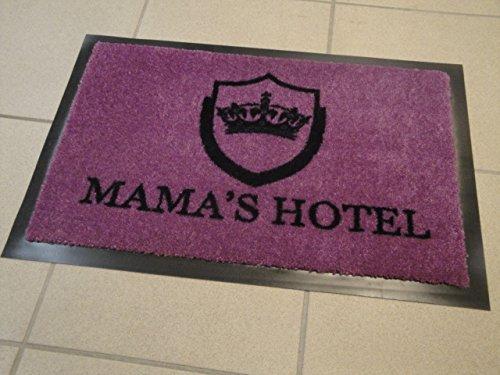 Türmatte Mama´s Hotel 60 x 40 cm Sauberlauf Waschbare Matte