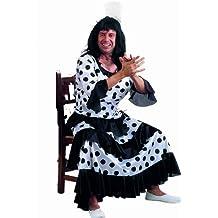Limit Sport - Disfraz de flamenca para adultos, color blanco y negro (MA898N)