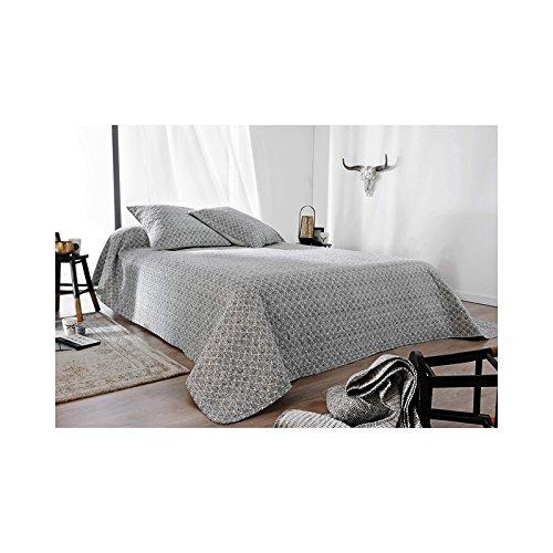 Boutis chic vintage gris - Gris (150x150cm)