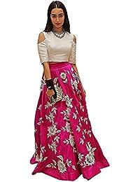 ATTIRE DESIGN Women's Latest Party Wear Designer Tafeta Silk Embroidery Un Stitched Free Size Salwar Suit Dress...