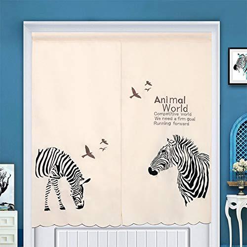 JFFFFWI Nordic Vorhang-/Stickerei Vorhang-/[Land], Tier, Küche, halbe Zeltdecke/Schlafzimmer Vorhang-/hängende Vorhänge/Partition Wind Vorhang auf - EIN 85 x 150 cm (33 x 59 Zoll) (Land Vorhänge Küche)