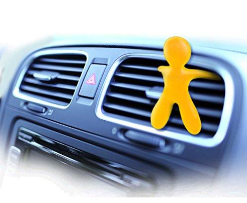Mr & mrs fragrance mrmr7- profumatore per auto, linea: cesare, fragranza: vaniglia, colore: giallo