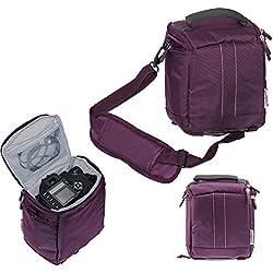 Navitech violet Caméscope / Caméra / sac à bandoulière / étui pourPolaroid One Step 2