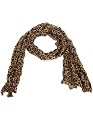 Accessoire pour Femmes Calonice Amorino écharpe extra-longue marron clair aux motifs peau de léopard Taille Unique (165x0.1x55 cm (LxHxl) 24100