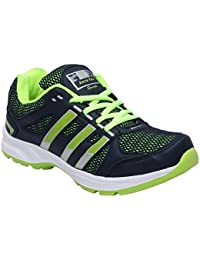 CF_Better Deals Mens Synthetic Mesh Navy Green Coloured Sports Shoe| Running Shoes| Pro Running Shoes| Sprint... - B076CNWGCY