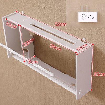 routeur Wifi étagère/TV set-top Boxes Magic étagère de rangement Boîte de décoration murale de renforcement à suspendre Rack Creative Boîte de rangement, O