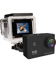 DBPOWER® 12MP 1080P HD Cámara Impermeable de la Acción Action Camera con 2 la Mejora de la Batería y Gratuito Accesorios Kits (Negro)
