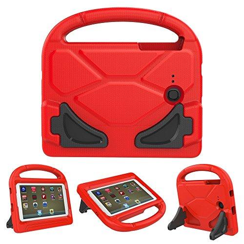 samLIKE Case Cover für Galaxy Tab 3 Lite T110 ✚ Tab E lite 7-Zoll für Kinder Safe EVA Schaum Haut Abdecken Ständer Hülle (❤️ Rot) (Galaxy Tab 3 7 Zoll Cover)